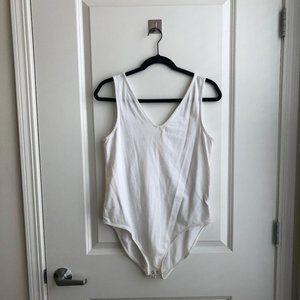 White V-Neck Bodysuit